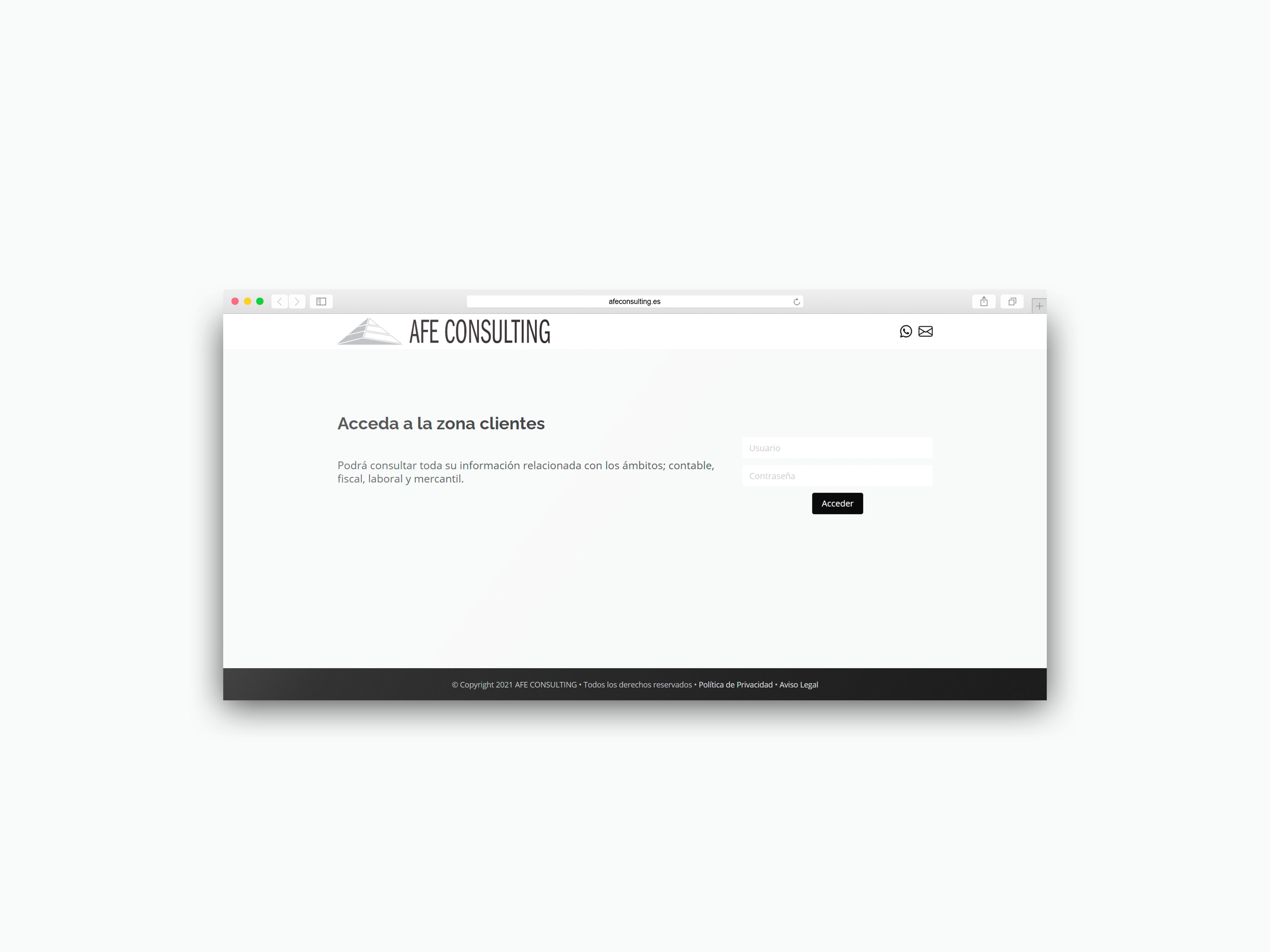 Intranet AFE – Plataforma privada para clientes