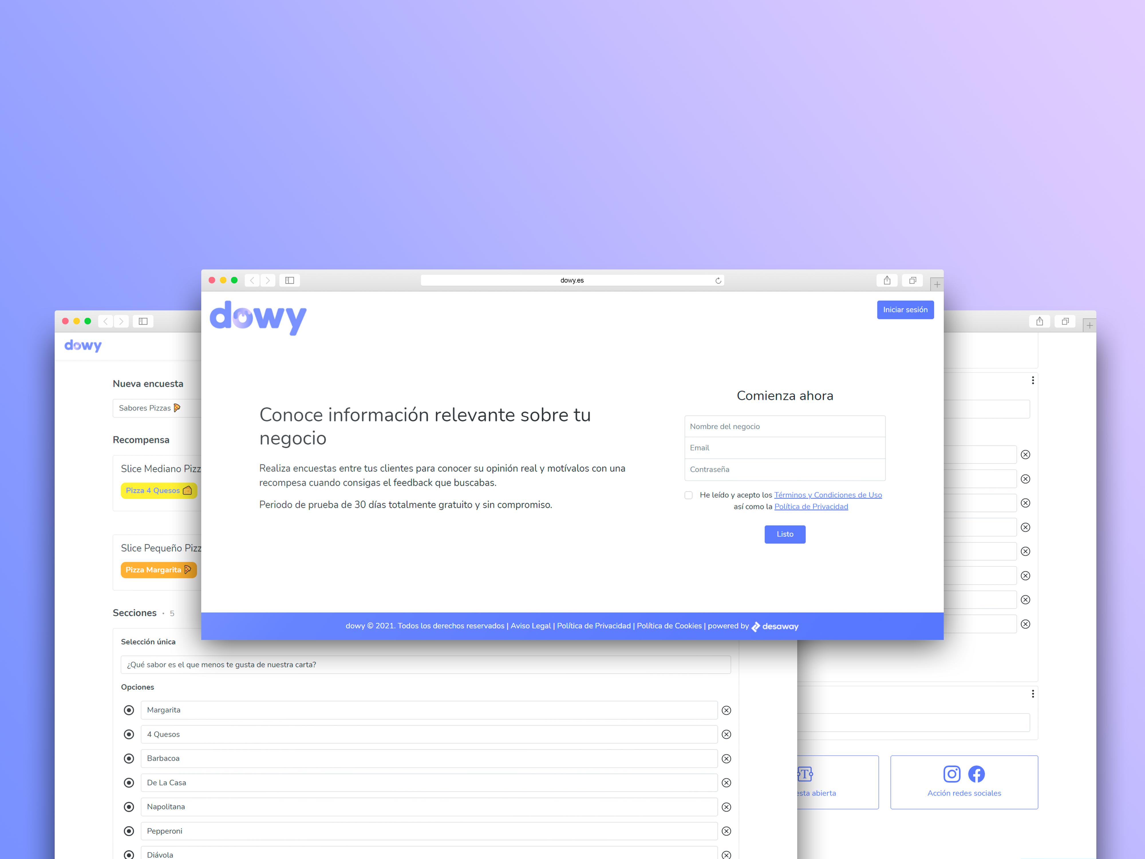 Dowy – Plataforma de encuestas para comercios