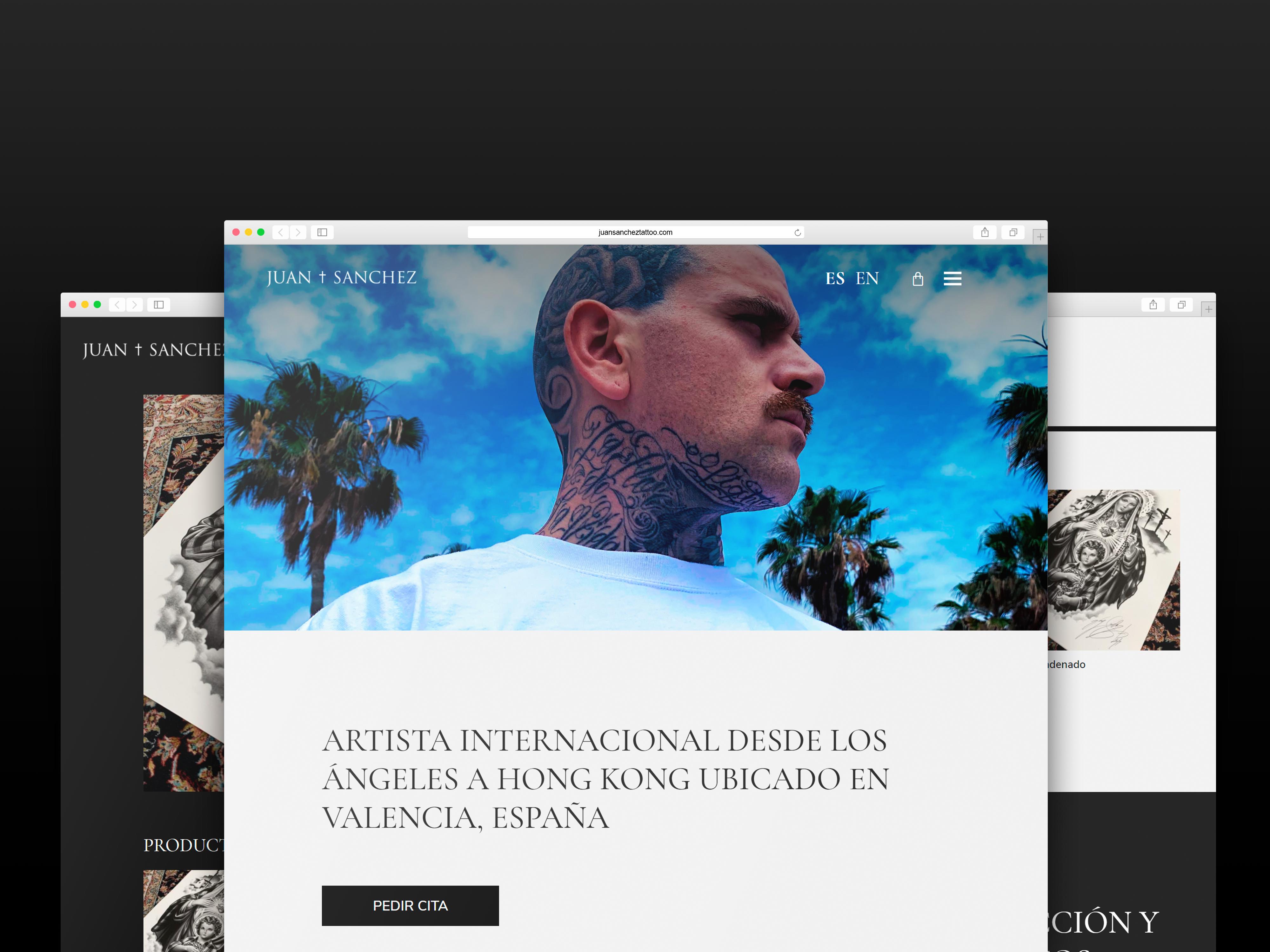 Juan Sanchez Tattoo – Web corporativa de artista con ecommerce